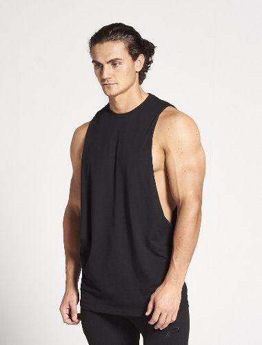BODYBUILDING CUT OFF TANK - Black