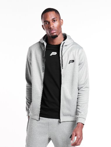 Poly Fleece Tracksuit Jacket - Grey
