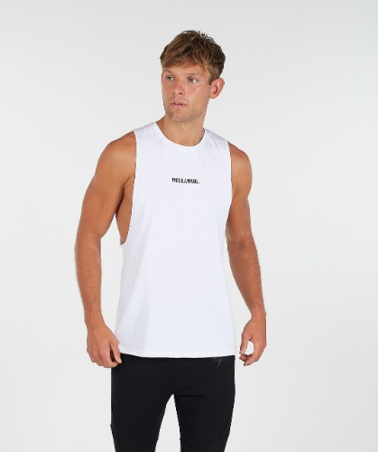 STATEMENT DROP ARM TANK - White