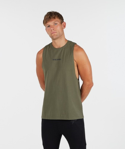 STATEMENT DROP ARM TANK - Camo Green