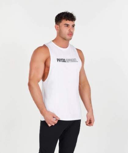 OUTLINE DROP ARM TANK - WHITE