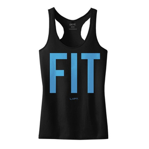 Fit Tank - Black/Blue