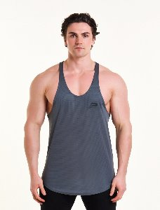 MESH BACK STRINGER VEST - Grey