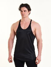 MESH BACK STRINGER VEST - Black