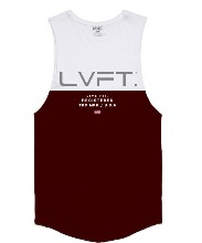 Divided Tank - White/Burgundy