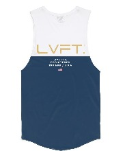 Divided Tank - White/Blue