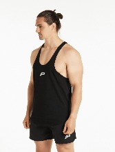 ICON STRINGER VEST - BLACK